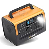BougeRV 716Wh Portable Power Station, Solar Generator, Backup LiFePO4 Battery Power Supply Pack with 200W Input, 110V/700W Pure Sine Wave AC Outlet for Outdoor, Camping, Emergency, Blackout, CPAP (Can be Charged by Solar Panels)