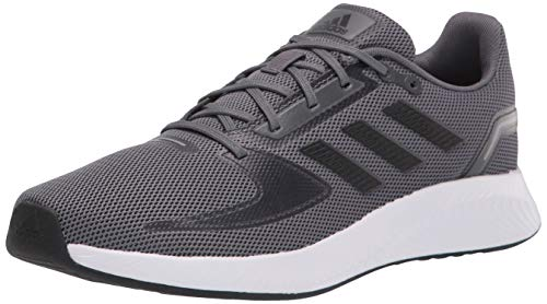 adidas Men's Runfalcon 2.0 Running Shoe, Grey/Black/Grey, 9.5
