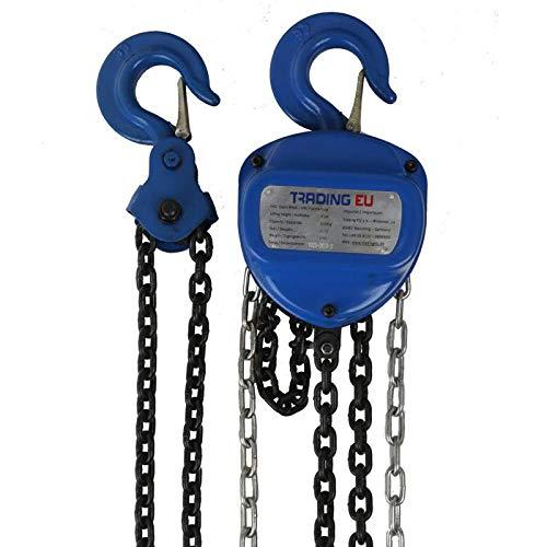 PROFI Industrie Flaschenzug 1000 kg / 1t - 5000 mm / 500cm Hubhöhe Seilzug Kettenzug Hebezug Ratschenzug - Herzform