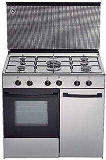 Cocina de gas butano/natural HVG CGI, 5 quemadores, Horno,