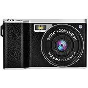 CamKing デジタルカメラ X9 1080P 24MP 4インチ 光学8倍ズーム タッチスクリーン コンパクトデジタルカメラ