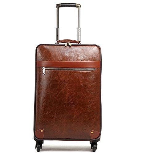 Maleta del equipaje bolsa 16 pulgadas -24 pulgadas Gran capacidad PU Material sintético Caja de varilla de tracción Caja de viaje 360 ° Ruedas multidireccionales silenciosas Por Avión viaje y compro