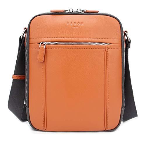Fedon 1919 Dimon Leather And Nylon Crossbody Bag Mb1930003 Orange
