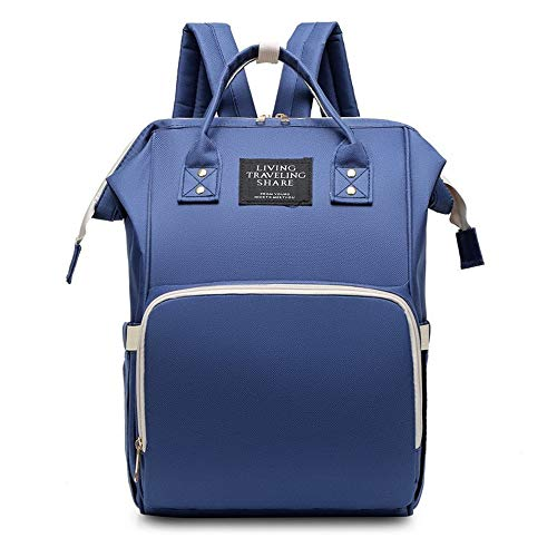 Laptop Backpack Travel Backpack with USB Charging Port, Multi-Function Large Diaper Bag, Student Backpack for Men and Women (Navy Blue)