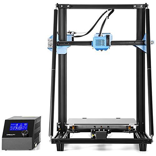 Imprimante 3D Creality CR-10 V2 installée avec Une Carte mère silencieuse, unité d'extrusion Tout en métal avec capteur d'alimentation de Filament, Reprise de l'impression au Format 300 * 300 * 400mm