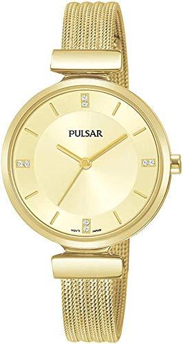 Pulsar Reloj Analógico para Mujer de Cuarzo con Correa en Acero Inoxidable 1