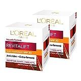L'oréal Paris Revitalift Soin De Jour Hydratant Protection Solaire SPF 30 50 ml - Lot de 2