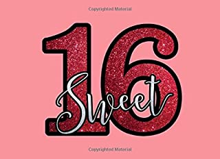 Sweet 16: Sweet 16 Guest Book Signing Autograph Keepsake For Girls Birthday Party