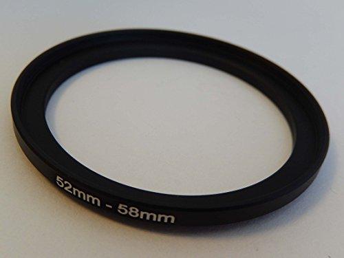 vhbw Step UP Filter-Adapter 52mm-58mm schwarz passend für Kamera Agfa, Agfaphoto, Canon, Casio, Fujifilm, Kodak, Minolta, Nikon, Olympus