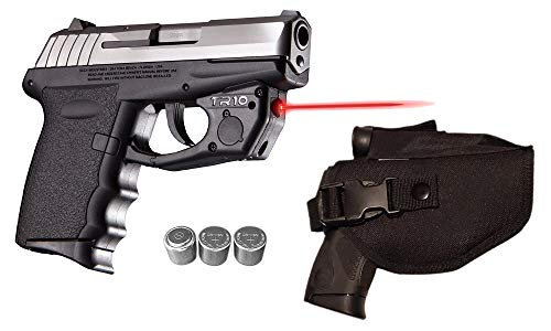 Laser Kit for SCCY CPX-1, CPX-2, CPX-3 w/ Holster, Touch-Activated ArmaLaser TR10 Red Laser & 2 Extra Batteries