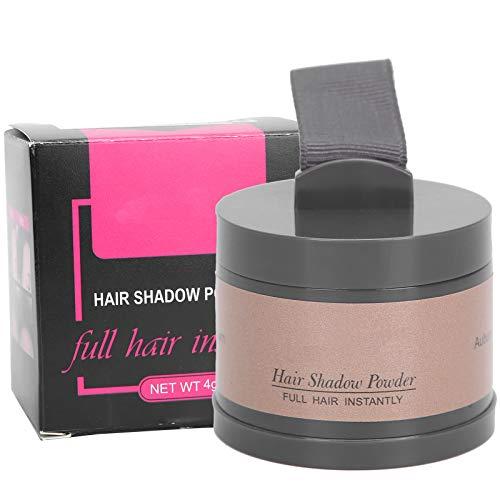 Cobertura de polvo profesional, Herramienta de relleno y modificación de polvo de sombra para el cabello, Cobertura rápida para cabello gris(Castaño)