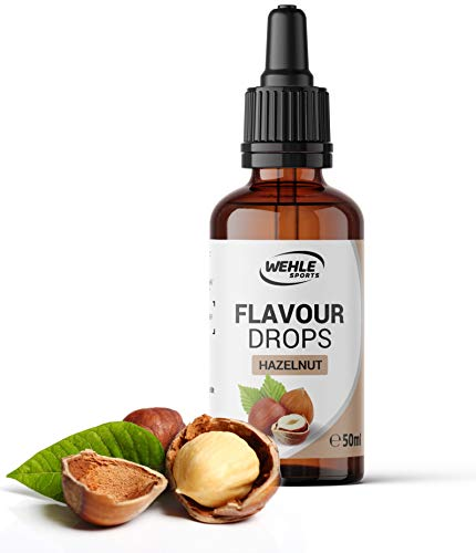 Flavour Drops zuckerfrei 50ml - Flavdrops Geschmackstropfen ohne Kalorien - Flavor Drops als Tropfen für Quark, Porridge, uvm - Aromatropfen zum Süßen ohne Zucker von Wehle Sports