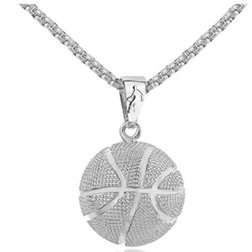 Unisex-Kugel-Hängender Edelstahl-Halskette Basketball-Hals Kurzschlussclavicle Ketten Sport Plating Halsschmuck Für Frauen Männer