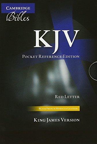 KJV Pocket Reference Edition Black French Morocco with zipper KJ243:XRZ (2010-08-01)