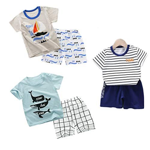 DEYOU - Juego de 3 camisetas de manga corta para niños y ni