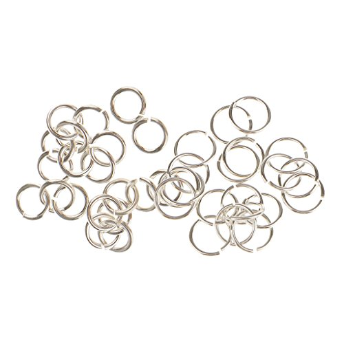 Harilla 40pcs 925 Sterling Silver Jump Rings Split Rings Jewelry Connector 4mm 6mm
