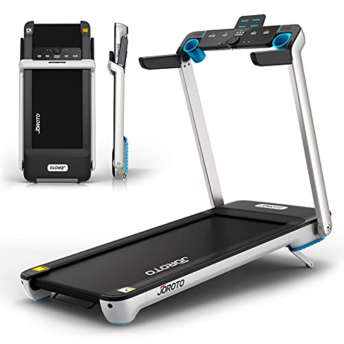 Folding Treadmill with Auto Incline Electric Running Machine Treadmills for Home with LCD Monitor 23' Wide Tread Belt (Fold Treadmills for Small Spaces Fit Under Bed)