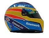 Mini Casco F1 Alpine 2021 Fernando Alonso