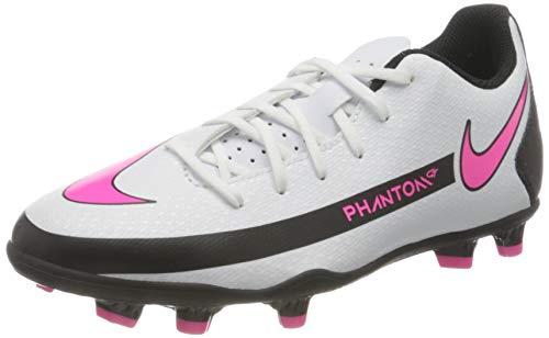 Nike Phantom Gt Club FG/MG Fußballschuh, White/PINK Blast-Black, 34 EU