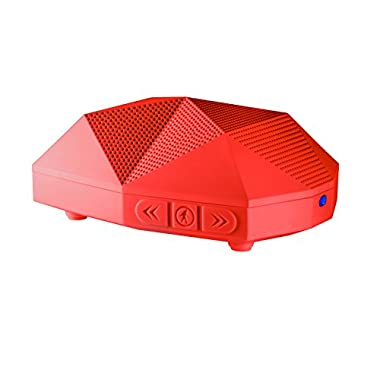 Outdoor Tech OT1800 Turtle Shell 2.0 - Rugged Water-Resistant Wireless Bluetooth Hi-Fi Speaker (Red)