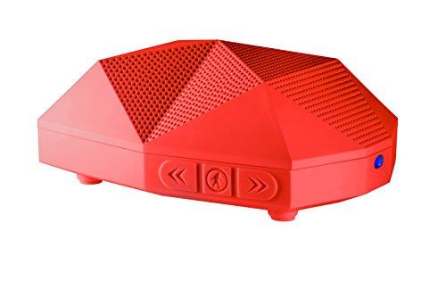 Outdoor Tech OT1800 Turtle Shell 2.0 - Rugged Water-Resistant Wireless Bluetooth Hi-Fi Speaker (Red)