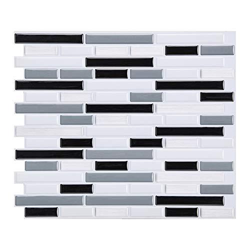Raburt Crystal Tile Self-Adhesive 3D Wall Sticker Mosaic Tile Backsplash DIY Epoxy Home Oil-Proof Waterproof Wall Stickers