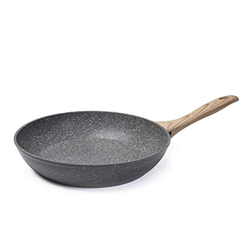 Seekavan 8 Inch Nonstick Frying Pan, Stone Interior Skillet ,Granite Cookware with Ultra Non-Stick Coating,Stay Cool Handle Fry Pan PFOA Free