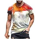 GLZBD 2021 Nouveau Mode T Shirt Imprimée Homme, Chemises été Homme Manche Courte Casual Tee Shirt Personnalisé Homme Marque Pas Cher Original Design T Shirt Noir Oversize Vintage Africain Col Rond