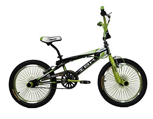 IBK Bici Bicicletta BMX Freestyle 20' MONOVELOCITA' STERZO 360° (Verde)