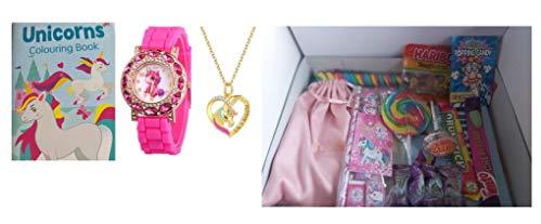 Lulus of Solart Treats: una selezione di dolci retrò con un orologio a unicorno, collana, libro da colorare e cancelleria...