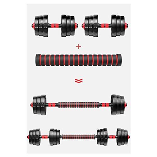 SKK Capacitación Pesas Conjunto Grande Pesas con Barra Ajustable de Goma Encased Metal manijas Fuerza Peso 20Kg Hierro 30GK Culturismo, Training de Trabajo Fuera Ejercicio (Color : 30KG/66lbs)