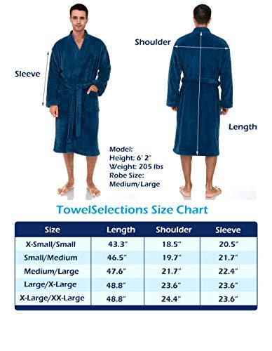 TowelSelections Men's Plush Spa Robe Fleece Kimono Bathrobe
