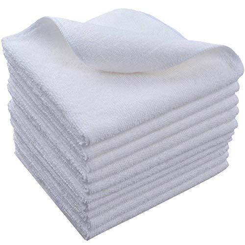HIDMD Mikrofasertücher Geschirrtücher Haushalts handtücher Super saugfähig Mikrofaser Reinigungstücher Geschirrtücher Mehrzweck 30cm x 30cm 10 Stück Weiß