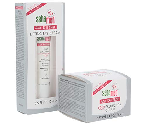 eye cream for faces Sebamed Age Defense Q10 Protection Face Cream (50 milliliters) and Lifting Eye Cream (15 milliliters) Set