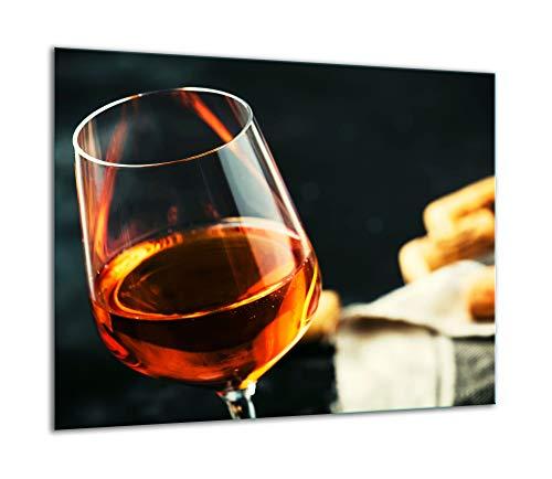 TMK - Placa protectora para cubrir la vitrocerámica de 60 x 52 cm, de cristal, para cocinas eléctricas, de inducción, protección contra salpicaduras, placa de vidrio decorativa, tabla de cortar, vino