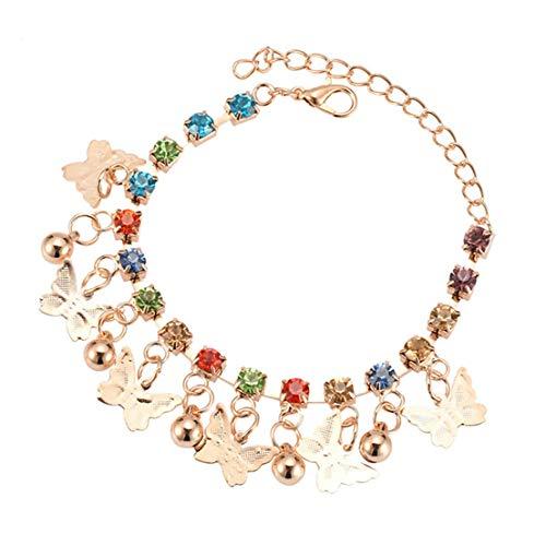 Beeinch Vintage Schmetterling Kristall buntes Armband feines Zubehör für Frauen Mädchen