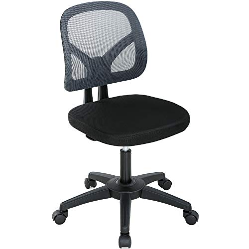 Office Chair Computer Chair Desk Chair with Lumbar Support Mesh Ergonomic Chair Adjustable Swivel Rolling Task Chair for Adults(Grey)