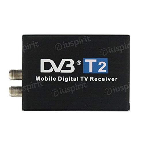 Ricevitore TV digitale DVB-T2 decoder TV digitale per autoradio con 2 antenne