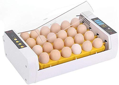 ZJWN Incubadoras de Huevos Automaticas, Incubatores Digitales con Control automático de Temperatura y Humedad Giro automático de Huevos, para Pollo, Patos, pájaros y más,White