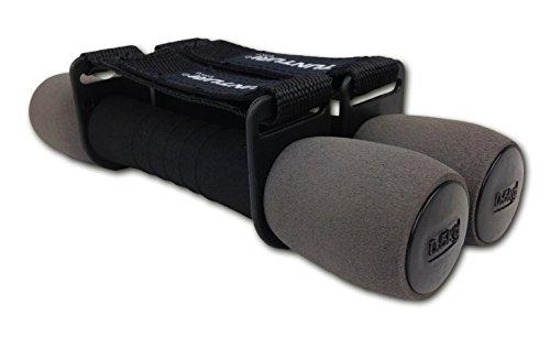 Tunturi 14TUSFU011, Coppia Manubri Fitness Morbidi Unisex – Adulto, Grigio, 0.5 kg Pair