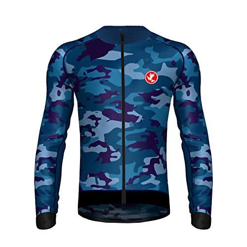 Sports Wear Maillot Ciclismo Hombre, Maillot Bicicleta Hombre, Camiseta Ciclismo con Manga Larga