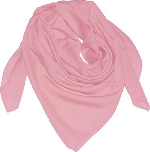 Harrys-Collection Damen Herren Baumwolltuch in vielen Farben 100 x 100 cm, Größen:Einheitsgröße, Farben:Rosa