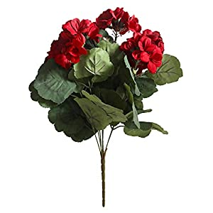SJWA Artificial Flowers 7-Head Begonia Artificial Flowers Cloth Simulation Flowers Vivid Home Decoration Bouquets Wedding Bouquets