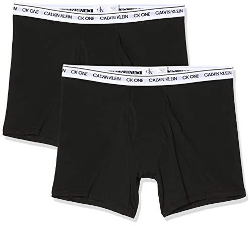 Calvin Klein Boxer Brief 2pk, Nero (Black with/White WB Bnm), X-Large Uomo