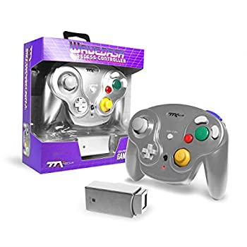 Ttx Gamecube Wavedash Wireless2.4 Ghz Controller Silver For Nintendo Gamecube with Wii Console  Nintendo Wii