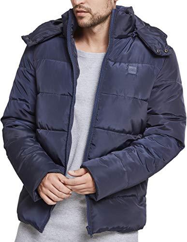 Urban Classics Herren Hooded Puffer Jacket Jacke, Navy, XXL