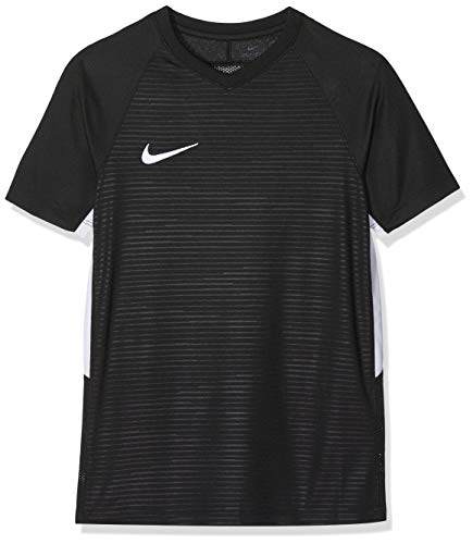 Nike Unisex Jungen Tiempo Premier SS Trikot T-shirt, Schwarz (schwarz/weiß/010), Gr. XL