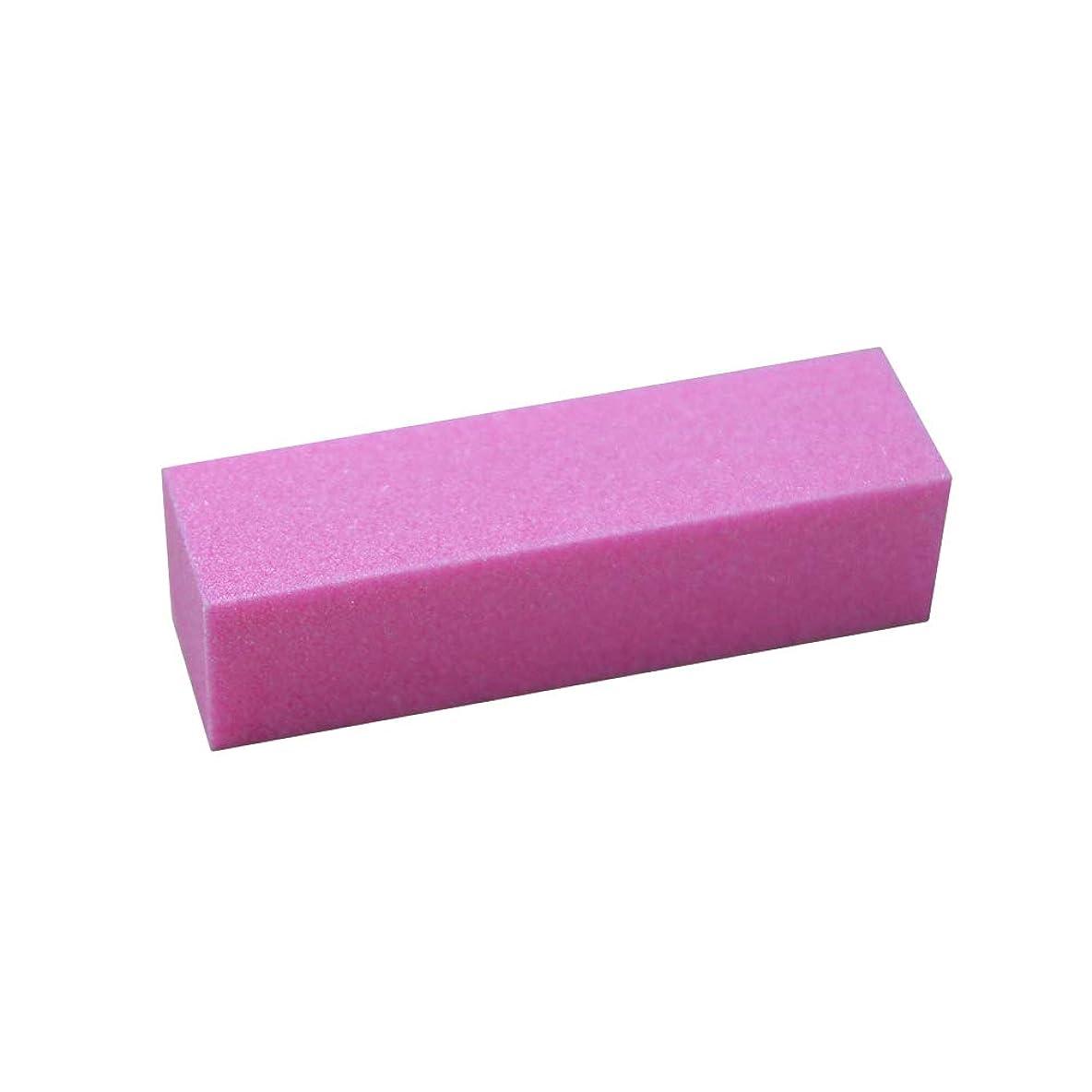 プログレッシブ敬意高めるLURROSE サンディングバフネイルポリッシャーポリッシュバッファバフブロックネイルファイルマニキュアアートペディキュアケアツール(ピンク)