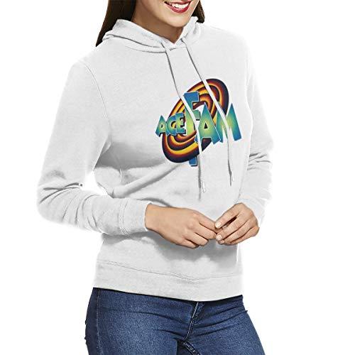 Women's Hooded Sweatshirt No Pockets European and American Retro Elegant Custom ACE Family Logo White M
