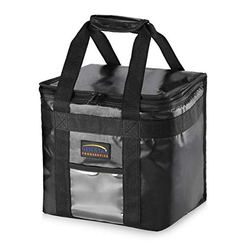 New Star Foodservice 1028683 Commercial Quality Insulated Food Delivery Bag Half-Size, 12'W x 11.5'H x 9.5'D